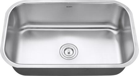 RVM4250 Undermount 16 Gauge 30 inch  Kitchen Sink Single