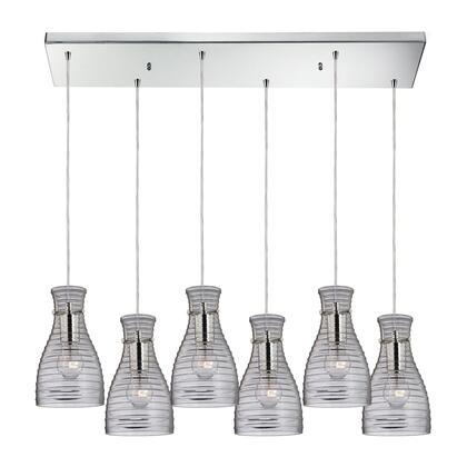 Elk Lighting 46107/6RC Strata Collection 6 light chandelier in Polished Chrome (Shipping Included) 46107/6RC