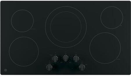 GE JP3036DLBB 36 Electric Cooktop with 5 Elements, Smoothtop Style, Keep Warm Zone, Hot Indicator, ADA Compliant, UL Safety Listed, Glass Ceramic Surface