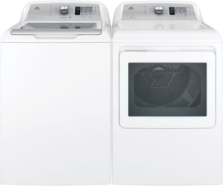 "White Top Load Laundry Pair with GTW685BSLWS 27"""" Washer and GTD75GCSLWS 27"""" Electric"" 844379"