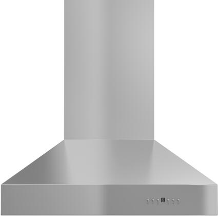 "ZL697-304-54 54"" Wall Mounted Outdoor Range Hood with 1200 CFM Motor  4 Speed Levels  4 Directional Lights and Control Panel with LCD in Brushed Stainless"