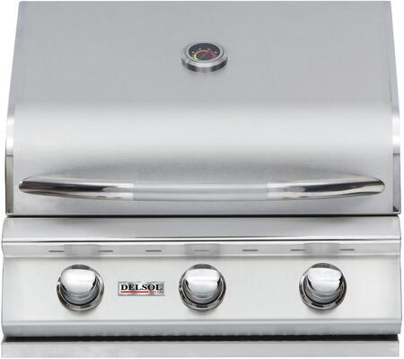 DSBQ25GL 25 inch  Liquid Propane Outdoor Grill with 304 Stainless Steel Construction  31500 BTU Max Heat Output  3 burners  and Integrated Temperature Gauge  in