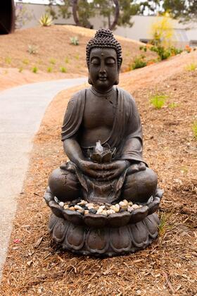 Buddha Fibreglass Serenity Fountain with LED Light GEM122