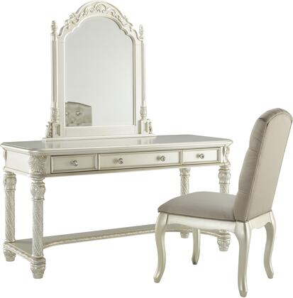 Cassimore Collection B750-22-25-01 Vanity Set with Vanity  Vanity Mirror and Chair in Pearl