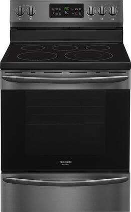 Frigidaire Gallery 5.4 Cu. Ft. Self-Cleaning Freestanding Electric Convection Range Black stainless steel FGEF3036TD