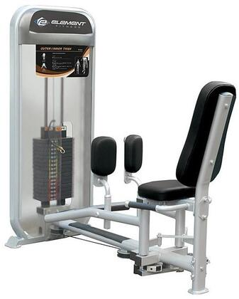 E-4978 Carbon Dual Series 9016 Inner/Outer Thigh Machine with Incremental Weight Stack  Military Grade Cables and Double Stitched High Density Foam Upholstery