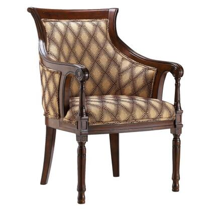 """Tanager 12933 36"""" Accent Chair with Barrel Back  Tapered Legs and Modern Geometric Fabric in"""