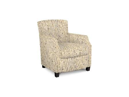 Comiskey Connection 1149-02/BE55-12 28 inch  Accent Chair with Fabric Upholstery  Tapered Wood Legs  Tight Back and Contemporary Style in Woven Floral