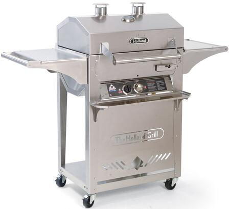 BH421SS7 SL Elite Liquid Propane Grill with Stainless Steel Construction  Cast Iron Burner  Drip Pan and 421 sq. in. Cooking Surface in Stainless