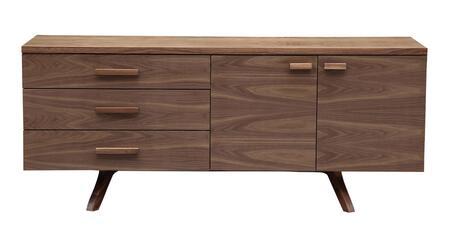 STO-SB-CHARLES-WAL Circa 1958 Charles Credenza Mid-Century Modern Cabinet  Walnut Wood