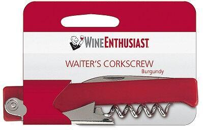 4302110 Wine Enthusiast Waiter Style Corkscrew: