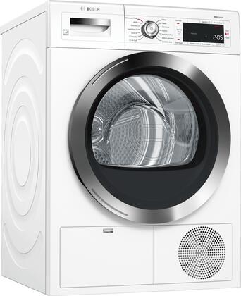 Bosch WTG865H2UC 800 Series 24 Inch Smart Electric Dryer with 4 cu. ft. Capacity, in White