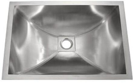 LI-SV-16 Acerra 22 inch  Single Bowl Undermount Bathroom Sink with Soundproofing System and Mounting Hardware in Stainless