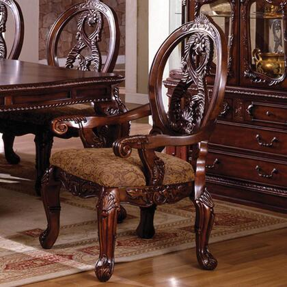 Tuscany II Collection CM3845CH-AC-2PK Set of 2 Arm Chair with French Style Legs and Rich Details in Antique Cherry