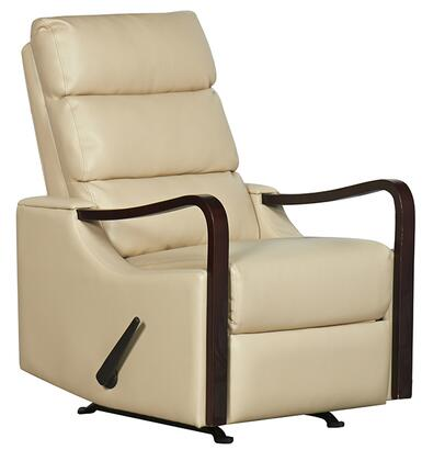 21310-LATTE Rissanti Salerno Zerostrain Glider Recliner with Espresso Arm Rest in
