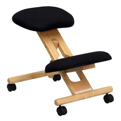 WL-SB-210-GG Mobile Wooden Ergonomic Kneeling Chair in Black