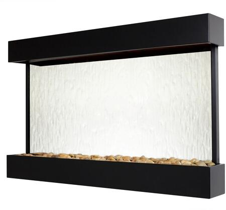 Echo Falls WWLHM-BL Large Landscape Mirror with Black Onyx Trim  LED Lighting System and a Hand Held Remote in