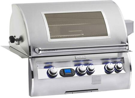 E660I-4L1P-W Echelon Diamond Series Built In Liquid Propane Grill with a Rotisserie Backburner a Left Infrared Burner and View Window  660 sq. in. Cooking