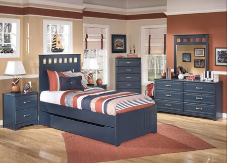 Leo Full Bedroom Set with Panel Bed  Dresser  Nightstand and Mirror in