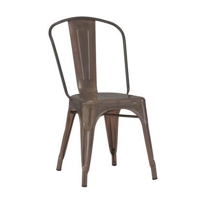 LS-9000-2-RMT Dreux Rustic Matte Steel Stackable Side Chair (Set Of
