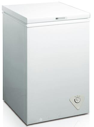 WHS-129C1 3.5 CF Manual Defrost Chest Freezer with Mechanical Temperature Control  Adjustable Thermostat  Removable Storage Basket and Balanced Hinge Design in