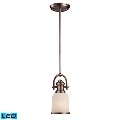 66181-1-LED Brooksdale 1-Light Pendant in Antique Copper -