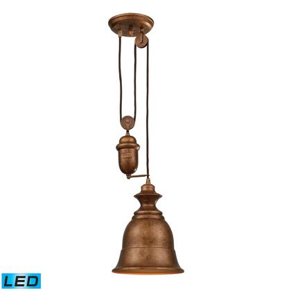 65060-1-led Farmhouse Bellwether Copper Pendant