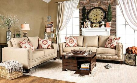 Norwick Collection SM6306-SL 2-Piece Living Room Set with Stationary Sofa and Loveseat in