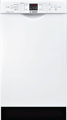 "Bosch 300 Series 18"" Front Control Tall Tub Built-In Dishwasher with Stainless-Steel Tub White SPE53U52UC"