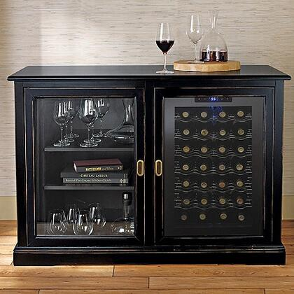 3359205 Siena Mezzo Wine Credenza with One Wine Cooler  Spacious Storage  and Adjustable Shelves  in