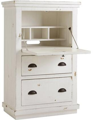 Willow A610-71 Armoire Desk with Solid Pine Construction  Simple Pulls and Two Drawers in Distressed