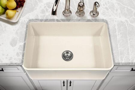 PTS-4100 BQ Platus Series 30-Inch Apron-Front Fireclay Single Bowl Kitchen Sink