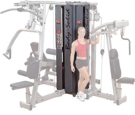 DGYM-DPLS-S-DPEC-S-DLEC-S-DPCC-S Pro Dual Modular 4-Stack Gym System with DGYM Base  DPLS-S Vertical Press and Lat Component  DPEC-S Pec-Rear Delt Component