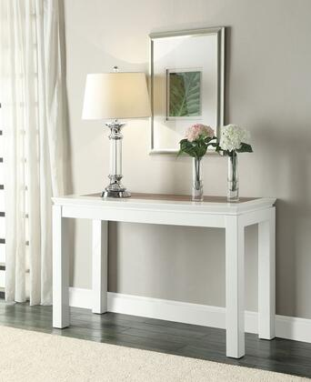 Kilee Collection 80725 47 inch  Sofa Table with Rectangular Shape in White