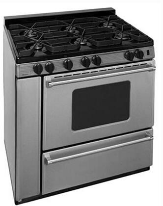 P36S3182PS 36 inch  Pro Series Gas Range with 6 Sealed Top Burners  Separate Broiler Compartment  17 000 BTU Oven Burner  Heavy Duty Cast Aluminum Griddle  Storage