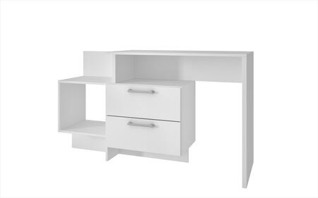 "Teramo Collection 78AMC6 37"" Home Desk with 2 Drawers and 1 Large Cubby in"