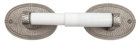 CF175SN Solid Copper Toilet Tissue Holder with Oval Backplates in Satin Nickel