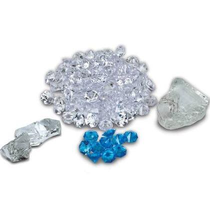 FI105DIAMOND Box 1 Large  2 Mini Clear Nuggets  95 Clear and 10 Blue Diamond
