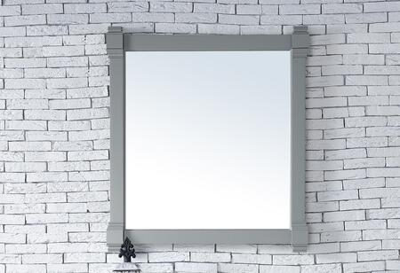 Brittany Collection 650-M35-UGR 35 inch  x 39 inch  Mirror with Solid Kiln-Dried Wood Frame and Molding Details in Urban