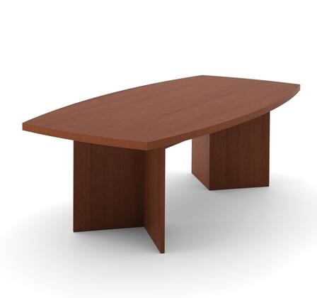 "65776-76 BESTAR 95.5"" Boat Shaped Conference Table with 1 3/4 Melamine Top in Cognac"