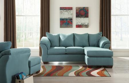 Darcy 75006SCHCO 3-Piece Living Room Set with Sofa Chaise  Chair and Ottoman in