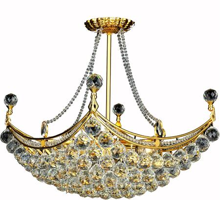 V9800D28G/SS 9800 Corona Collection Chandelier L:28 In W:16In H:20In Lt:8 Gold Finish (Swarovski   Elements