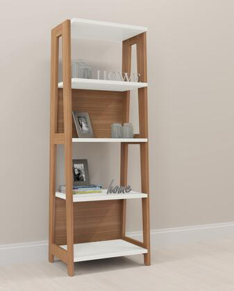 26125OW Trendline Wood Brown/White Home Office