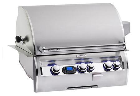 E660I-4L1N Echelon Diamond Series Built In Natural Gas Grill with a 660 sq. in. Cooking Area and Left Infrared Burner: Stainless