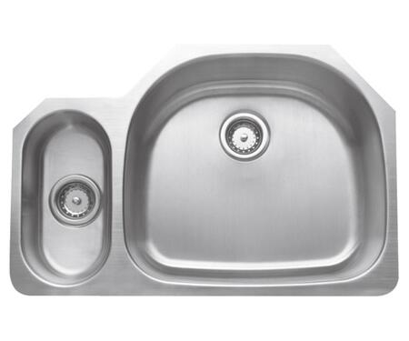 CMU3221-59D Craftsmen Series Stainless Steel Double Bowl Undermount Sinks  Small Bowl on