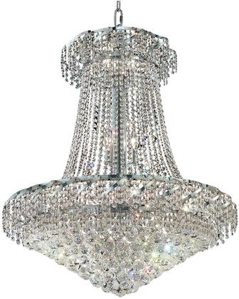 VECA1D30C/RC Belenus Collection Chandelier D:30In H:38In Lt:18 Chrome Finish (Royal Cut