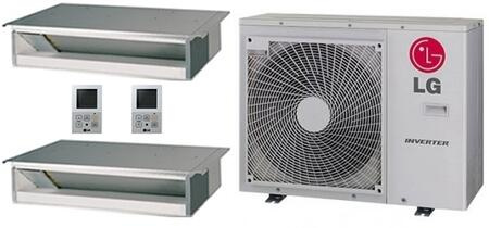 LMU30CHVPACKAGE43 Dual Zone Mini Split Air Conditioner System with 30000 BTU Cooling Capacity  2 Indoor Units  and Outdoor 704225