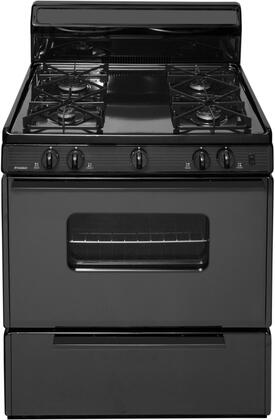 SMK290BP 30 inch  Freestanding Gas Range with 4 Sealed Burners  Porcelain Coated Steel Grates  2 Oven Racks  and Electronic Ignition  in