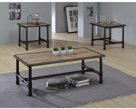 Caitlin Collection 821952E 3 PC Living Room Table Set with 48