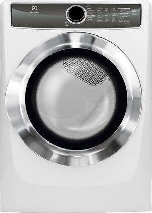 """EFMG617SIW 27"""""""" Energy Star Front Load Gas Dryer with 8 cu. ft. Capacity  Perfect Steam  Allergen Cycle  15 Minute Fast Dry and Reversible Door: Island"""" 683405"""